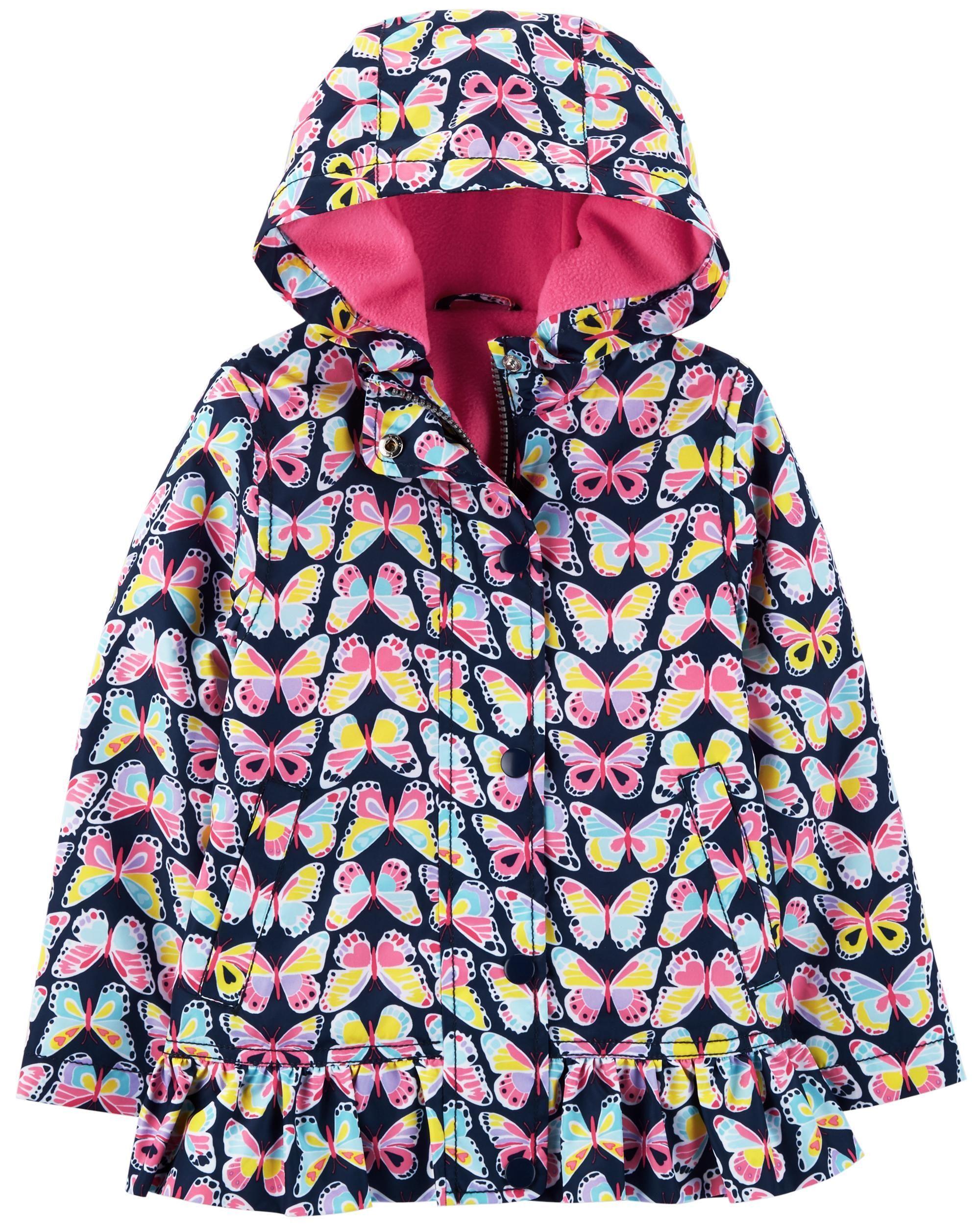 b43ef81b5 Butterfly Fleece-Lined Rain Jacket | Clothing Shopping | Jackets ...