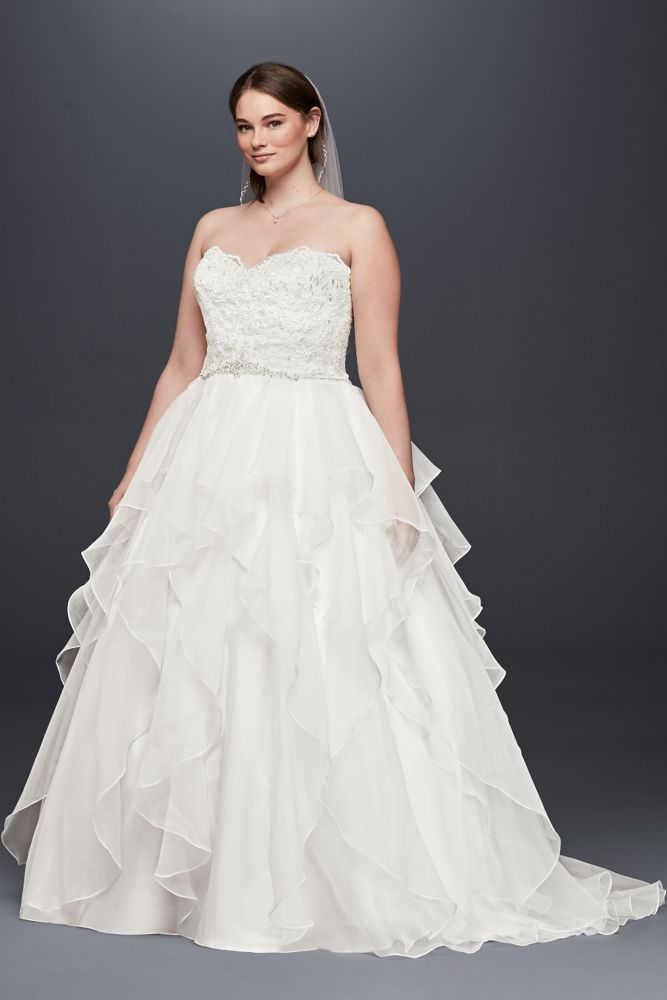 Beading and Lace Plus Size Ball Gown Wedding Dress Style 4XL9WG3830 ...