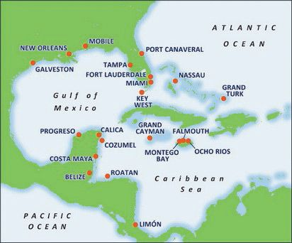 Image Result For Western Caribbean Carnival Cruise Map Of
