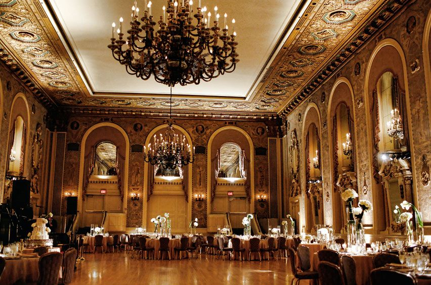gold ballroom wedding reception Classic Gold and Ivory Ballroom Wedding