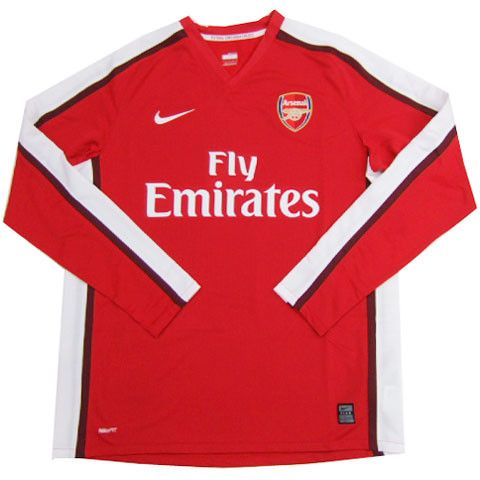 finest selection 1197c de1f5 Arsenal Jersey Long Sleeve 2008-2009 | arsenal jersey ...
