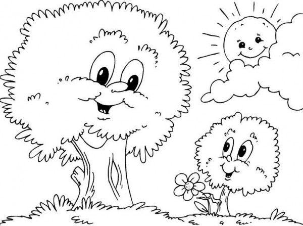 Paisajes Naturales Para Dibujar Faciles Dibujos De Arboles Dibujos Dibujos Para Colorear
