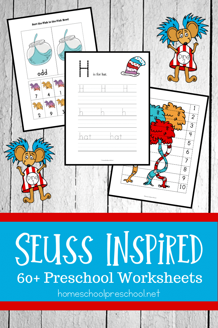 You Can Use These Dr Seuss Worksheets To Celebrate Dr Seuss Birthday Or Any Day Kids Love Dr Seuss And Th Free Preschool Printables Preschool Worksheets Seuss [ 1102 x 735 Pixel ]