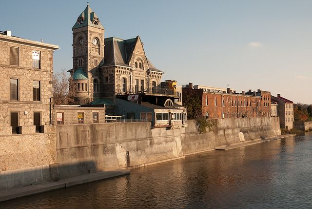 Old post office on the Grand River is for sale, Galt, Ontario by Happy Sleepy, via Flickr