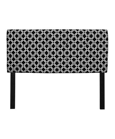 Take a look at this Black & White Chains Headboard by S.O.L.E. on #zulily today!