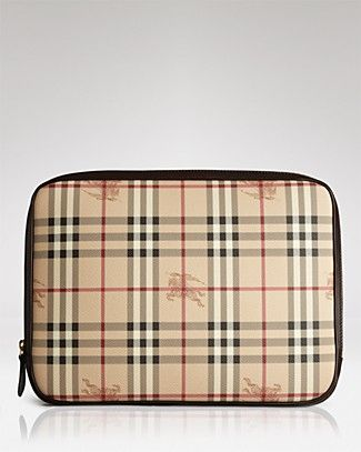 Burberry laptop sleeve for my new macbook!