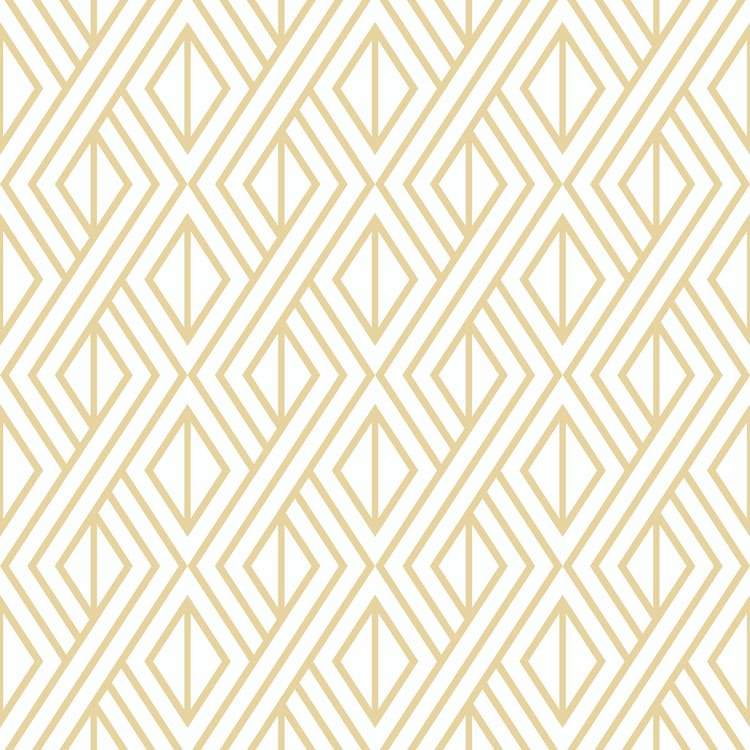 Nextwall Peel Stick Diamond Geometric Metallic Gold White Wallpaper Peel And Stick Wallpaper Peelable Wallpaper Geometric Wallpaper