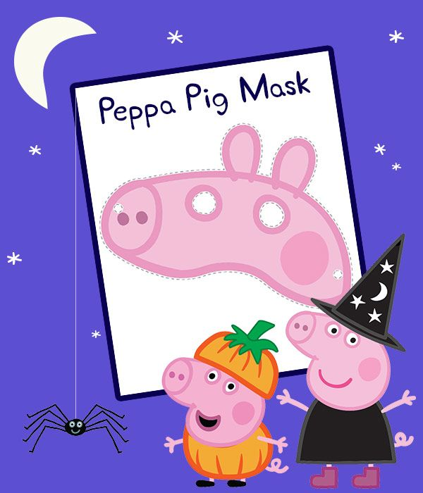 Trick or treat (snort)! Print this Peppa Pig mask for Halloween fun ...