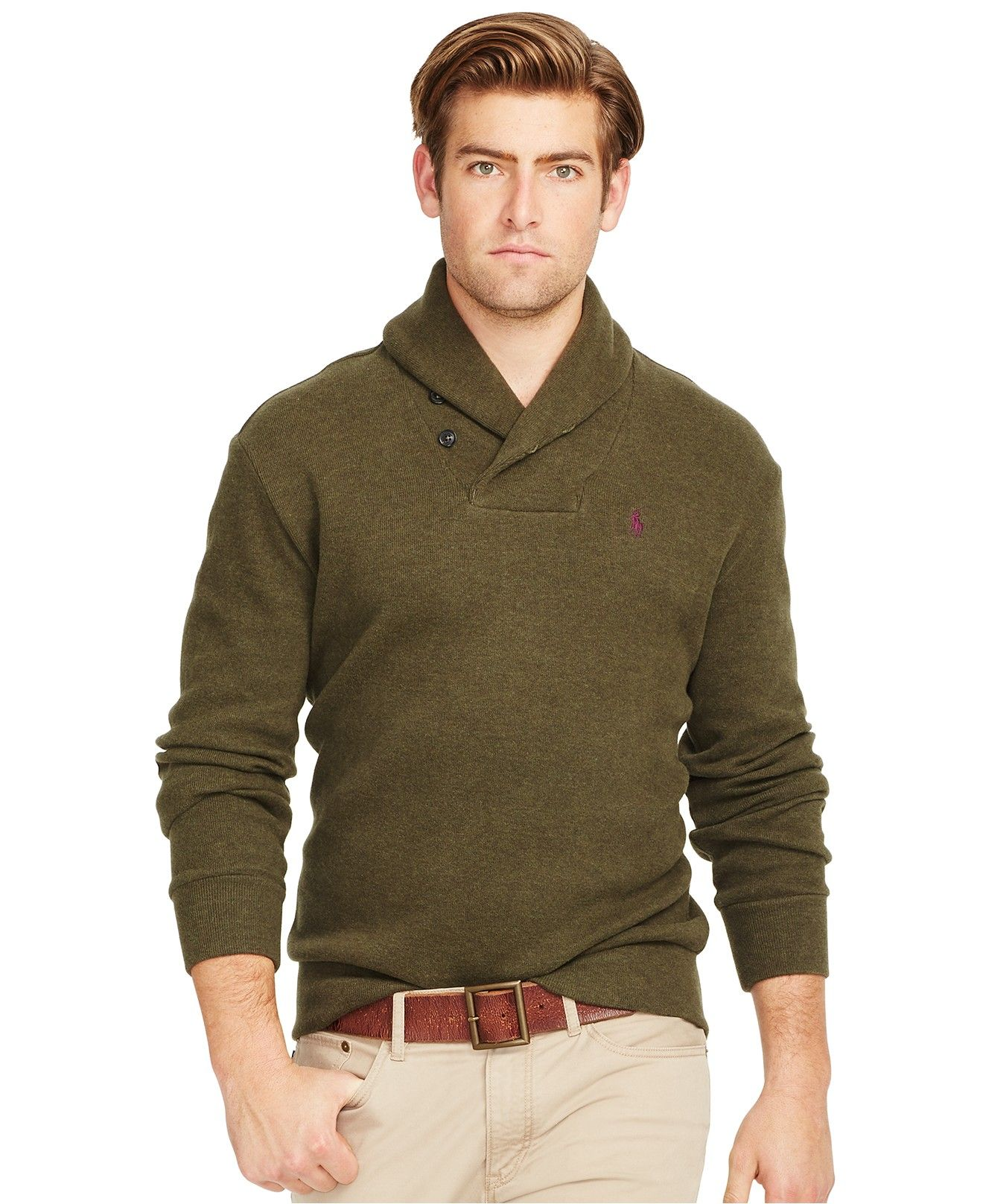 Polo Ralph Lauren French Rib Shawl Pullover Sweater Sweaters Men