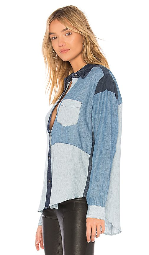 e31b823de68 Shop for Rails Zoey Button Up in Colorblock Denim Wash at REVOLVE. Free 2-3  day shipping and returns