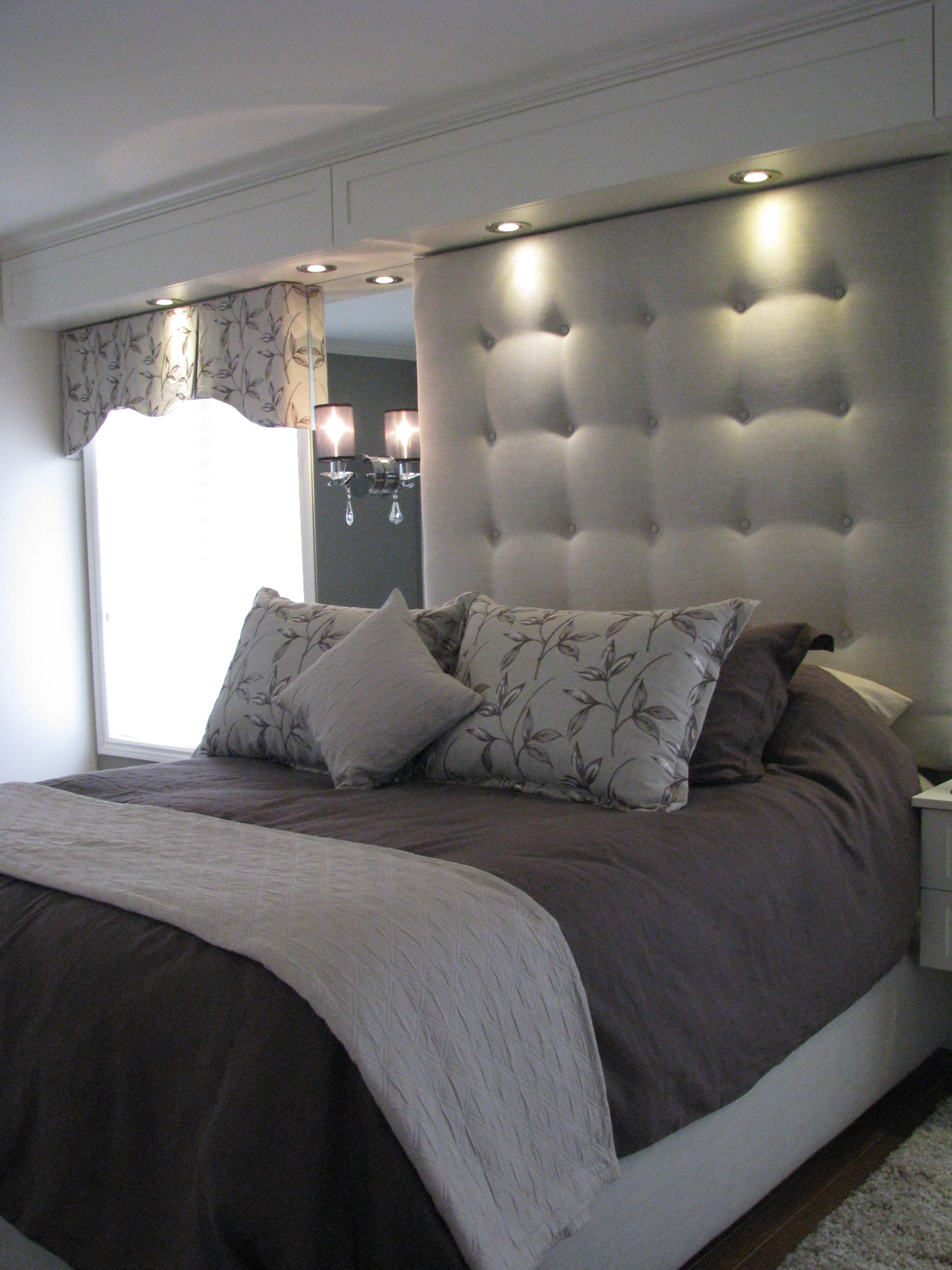 Upholstered Headboard Bedroom Master Suite