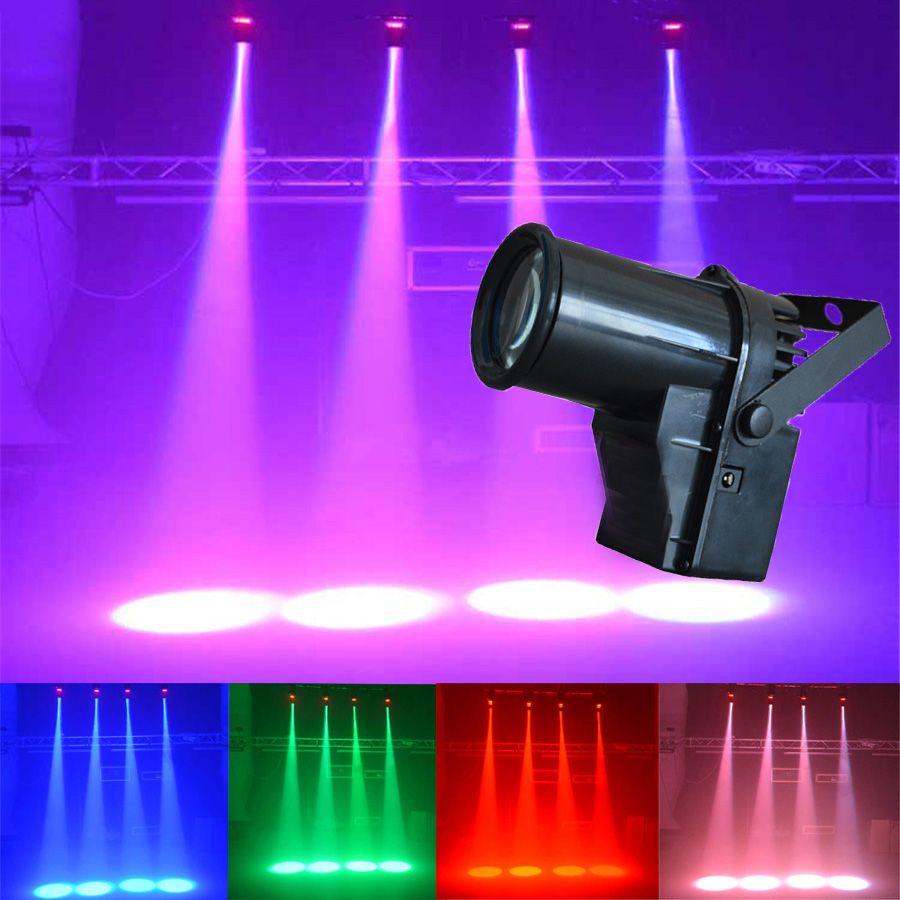 5W Mini LED Stage Effect Light Single Color Small Spotlights Beam Lamp Pinspot For DJ Bar KTV PartyBlind Corner AC90 240V