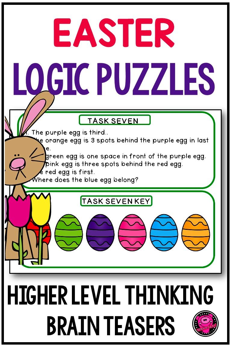 Printable Easter Themed Brain Teaser Require Critical Thinking Skills For You Second Third And Fourth Grade Easter Math Brain Teasers Easter Math Activities [ 1152 x 768 Pixel ]