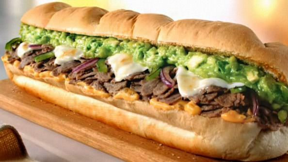 Subway\u0027s Avocado Chipotle Steak  Cheese I had it for lunch on