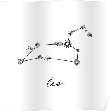 Photo of 'Leo Zodiac Wildflower Constellation' Poster by aterkaderk