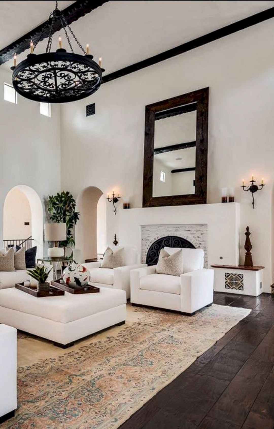 New Project Traditional Design Meets Spanish Revival In Druid Hills Chandelier In Living Room Spanish Style Home House Interior