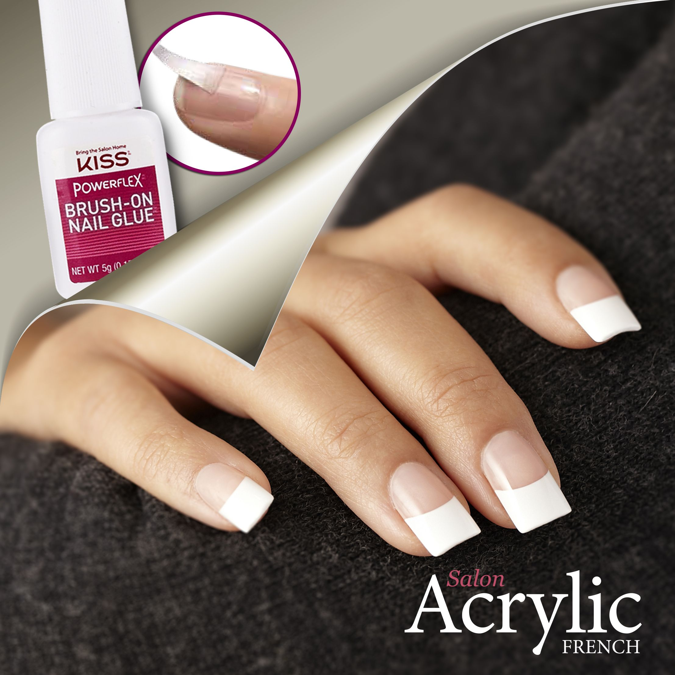 Think Sophistication Think Salon Acrylic French Acrylic Infused French Nails That Cost Less Than A Salon And Look Better Glue On Nails French Nails Nails