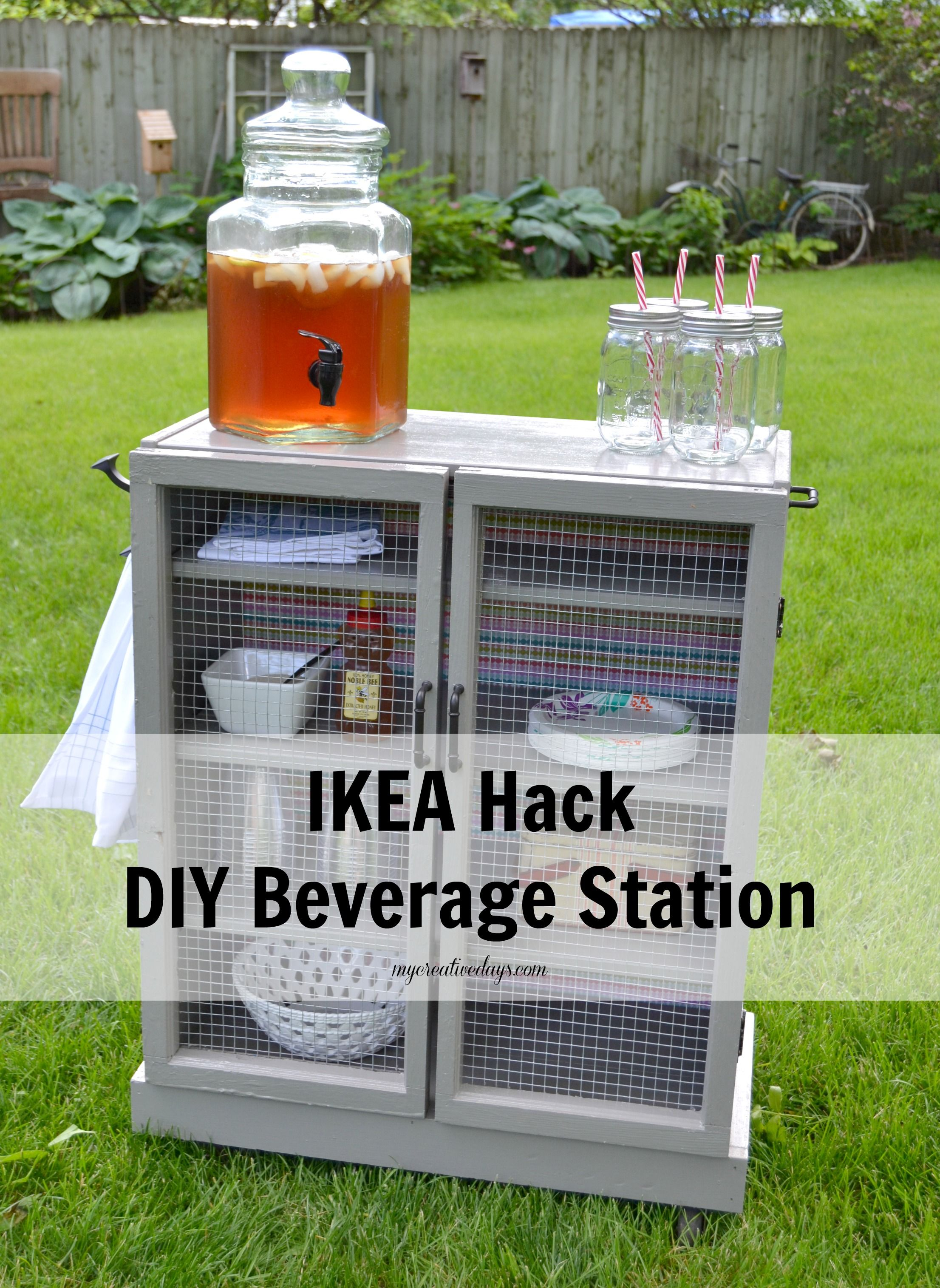 ikea hack diy beverage station ikea hacks diy home pinterest hacks m bel und ikea. Black Bedroom Furniture Sets. Home Design Ideas