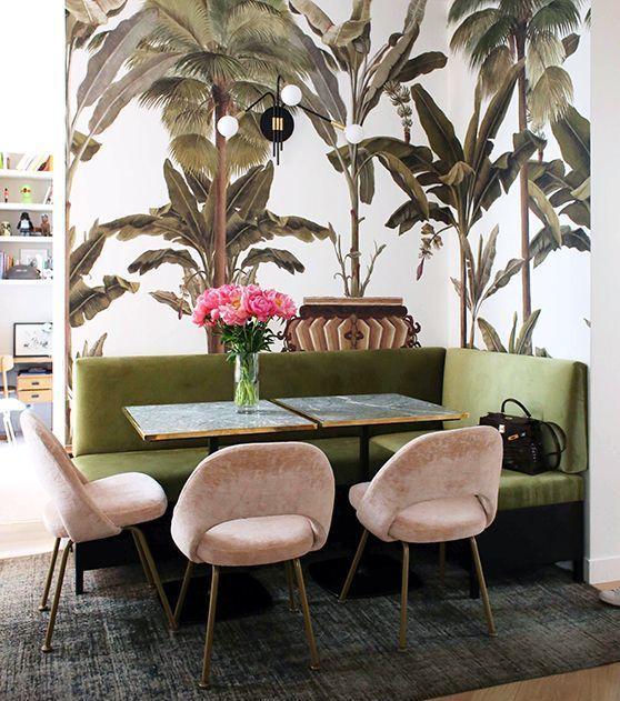 Astuce petits espaces : une banquette dans la cuisine