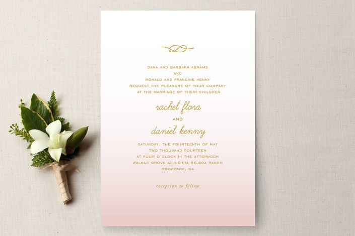$2.34 Simple Knot Wedding Invitations by SimpleTe Design | Minted