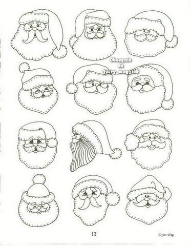 Santa Faces *image only, ideas for Christmas ornaments