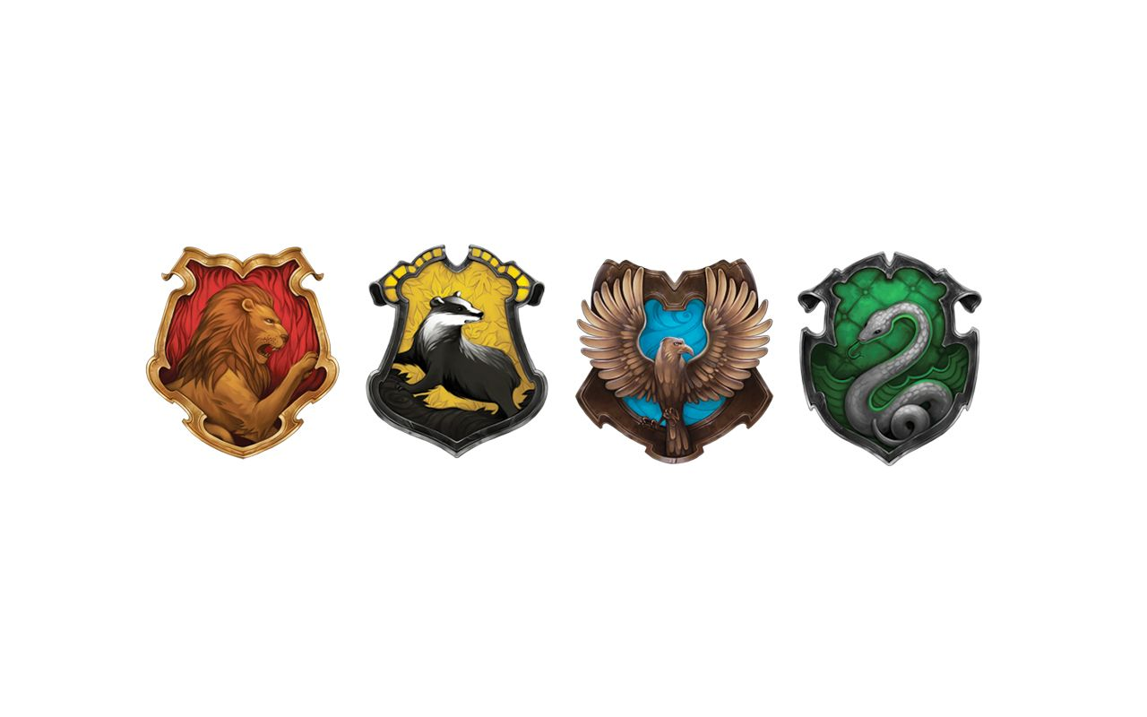 HARRY POTTER MOVIE POSTERS SET OF 4 INDIVIDUAL HOUSE CREST BANNERS ANY SIZE