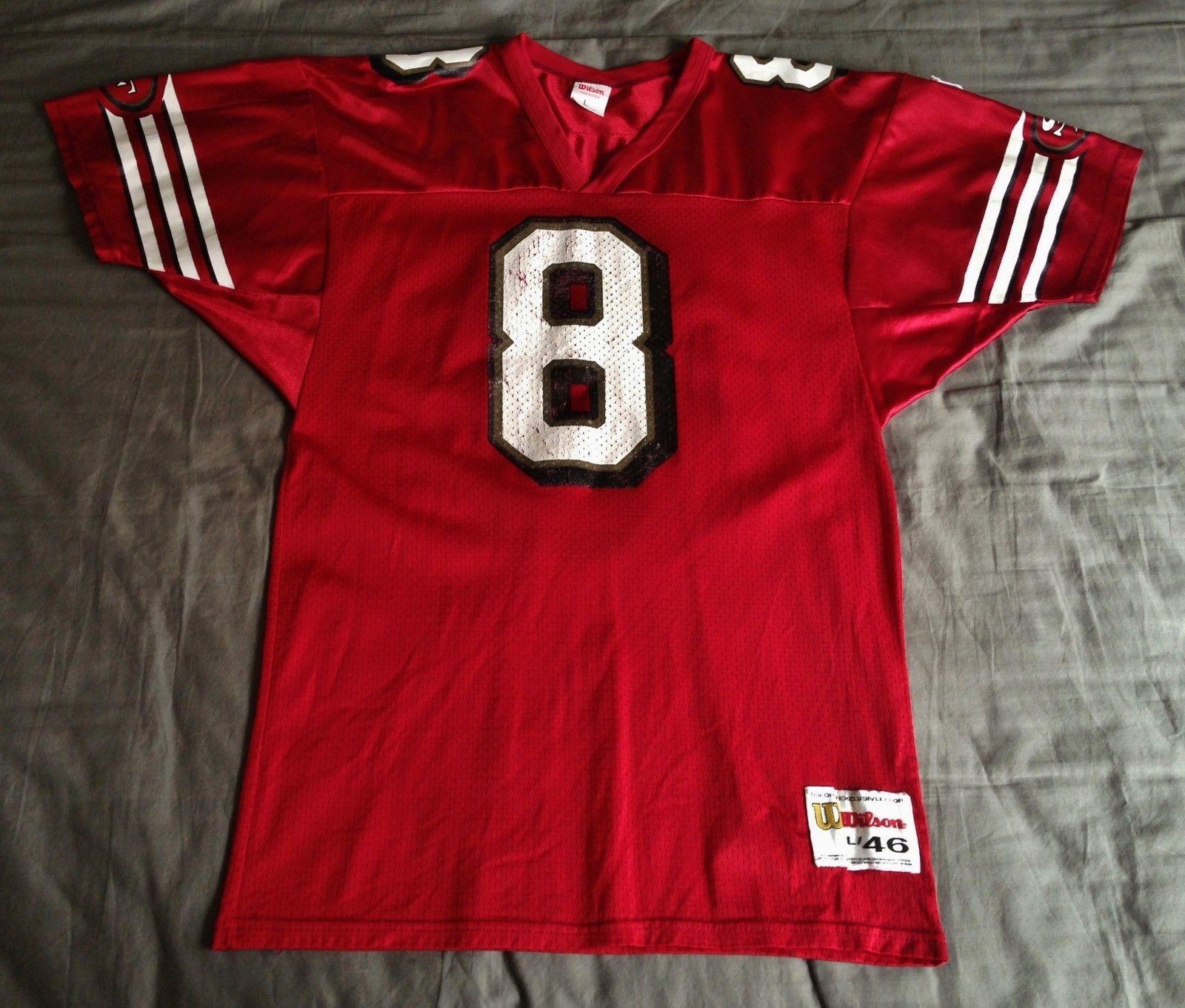 San Francisco 49ers Vintage Steve Young Wilson Nfl Football Jersey 46 L Nfl Football Jersey Nfl Football Football Jerseys