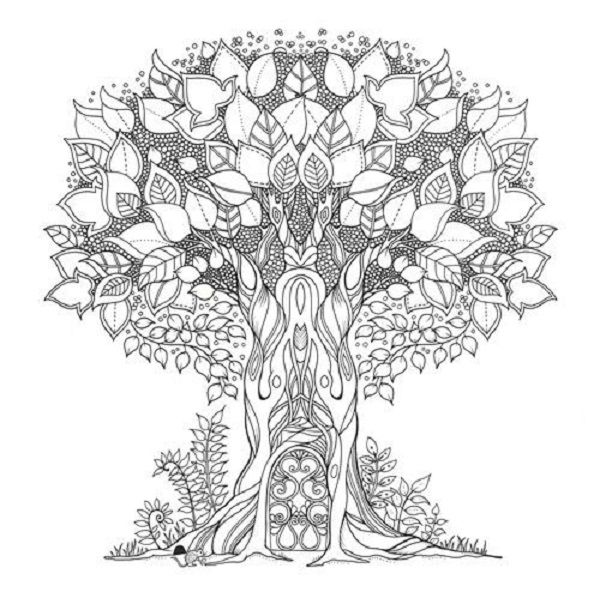 Enchanted Forest Tree   Enchanted forest coloring book ...