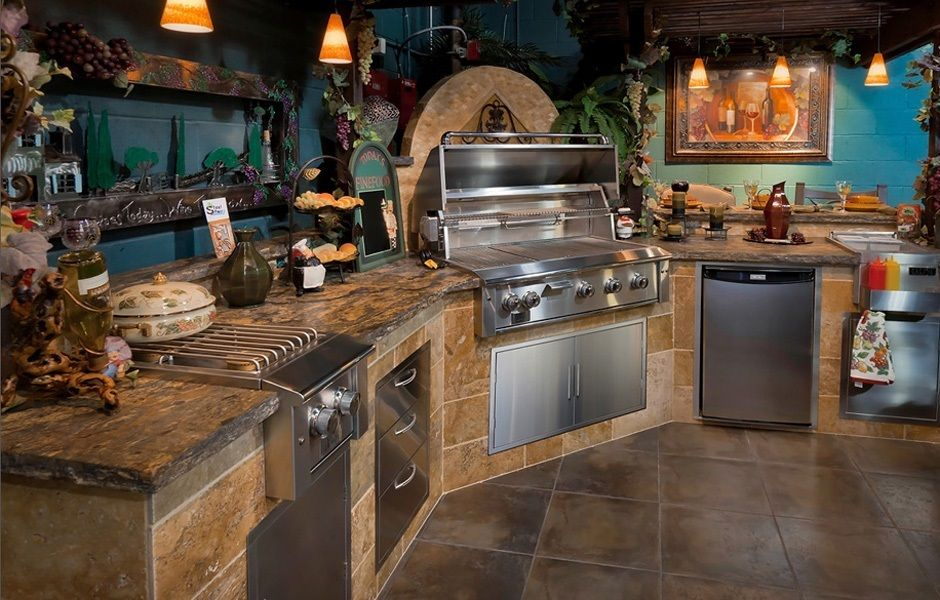 Tuscan Style Outdoor Kitchen with Plenty of Rustic Charm | Custom ...