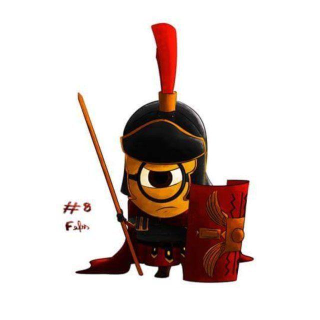 Minion Legionário!!! #minion #roman #legionary #romanlegionary #legionario #romano #animation #movie #movieanimation #draw #drawing #desenho #digital #art #arte #artist #despicableme #meumalvadofavorito #UniversalStudios #IlluminationEntertainment #8