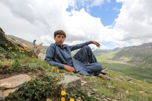 """""""I want to be a police officer."""" """"What will be the best part about being a police officer?"""" """"The power.""""  (Babusar Top, Pakistan)"""