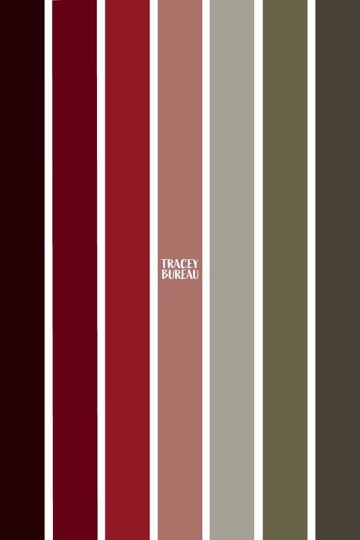Vertical Stripe Color Inspired Palette Red Colour Palette How Are You Feeling Color