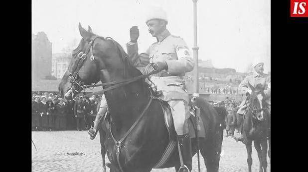 Katso filmi vuodelta 1918: Mannerheim ratsasti valkoisen armeijan kärjessä Helsinkiin – kuvissa näkyy monta mielenkiintoista yksityiskohtaa - Suomi 100 - Ilta-Sanomat
