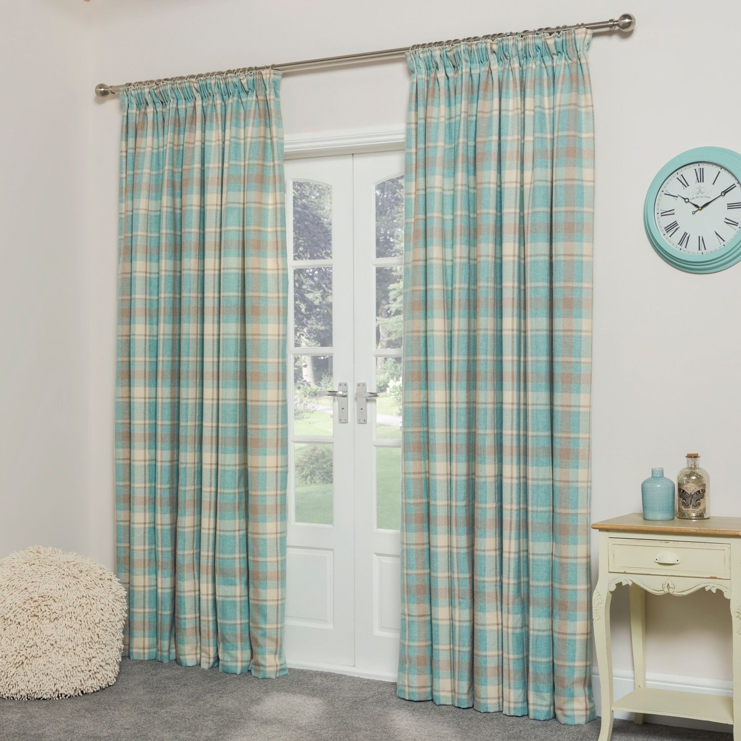 Pin By Em Jackson On Summer Lounge Check Curtains Curtains Curtain Patterns