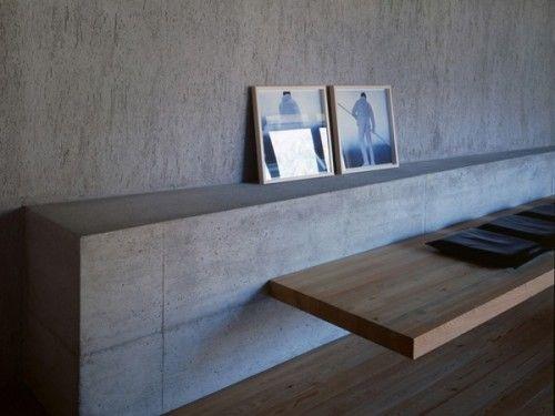 Built In Concrete Furniture Display Modern House Renovation Concrete Furniture Innovative Furniture Minimalist Interior Design