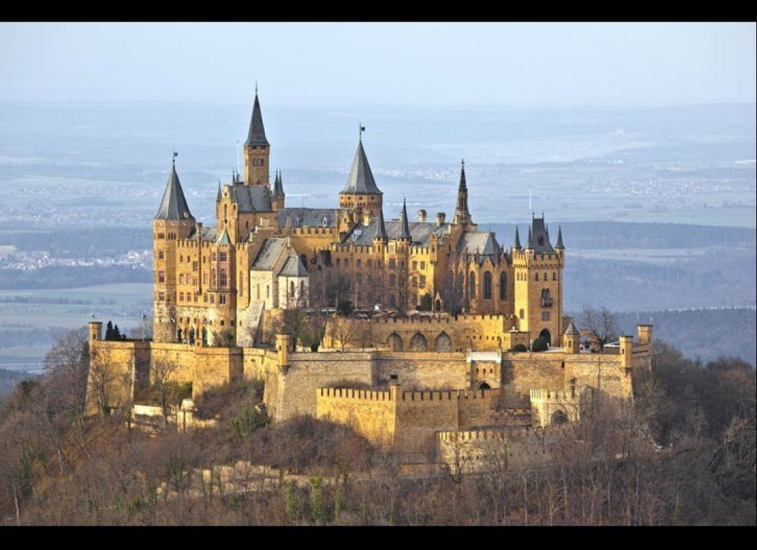 Hohenzollern Castle Can Be Found About 30 Miles South Of Stuttgart Located In Southern Germany The Cast Germany Castles Hohenzollern Castle Beautiful Castles