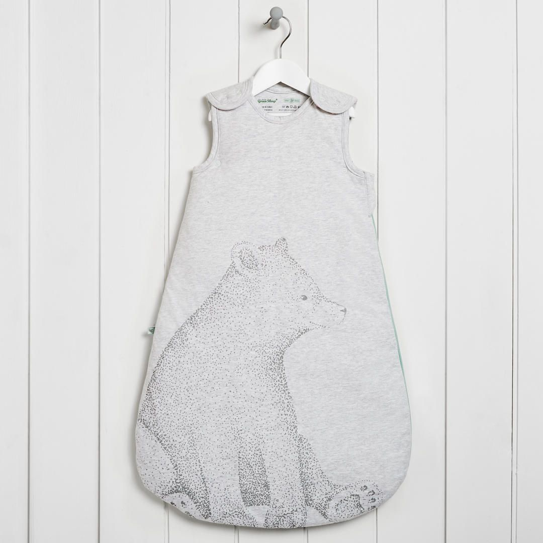 Buythe Little Green Sheep Baby Wild Cotton Bear Sleep Bag 2 5 Tog Grey 0 6 Months Online At Johnlewis Baby Sleeping Bag Baby Grow Bags Toddler And Baby Room