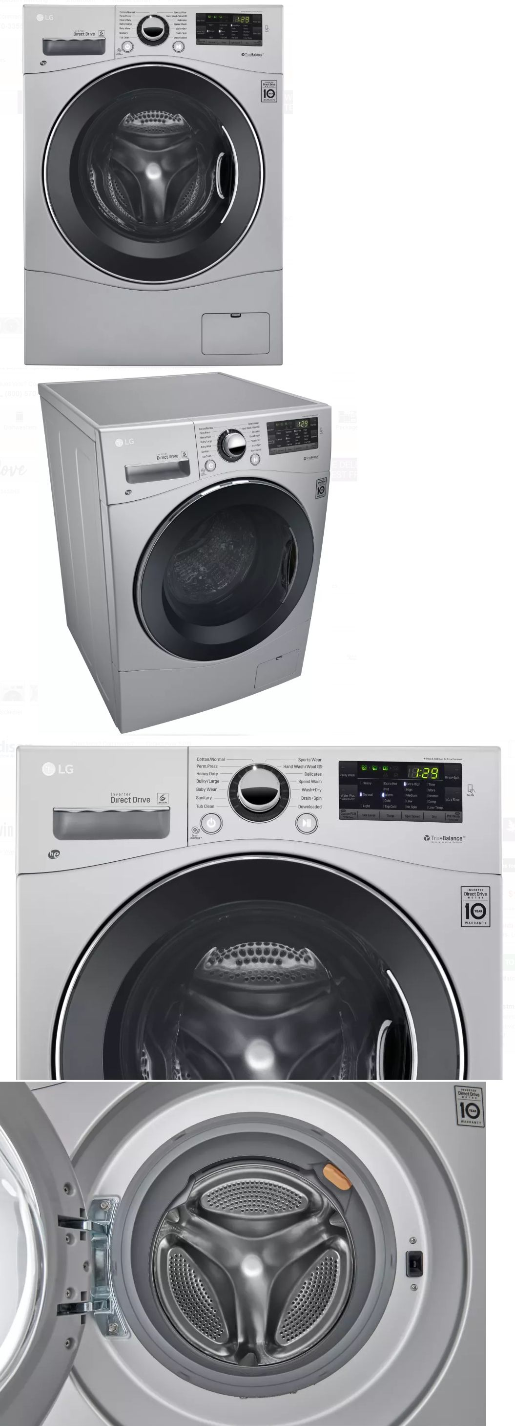 Washing Machines 71256 Lg Wm3488hs 24 In Silver Ventless Electric Washer Dryer Combo Buy It Now Only Electric Washer Washer Dryer Combo Washer And Dryer