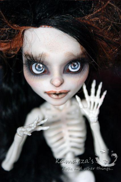 OOAK repaint Skelita Calaveras monster high by smileidiote