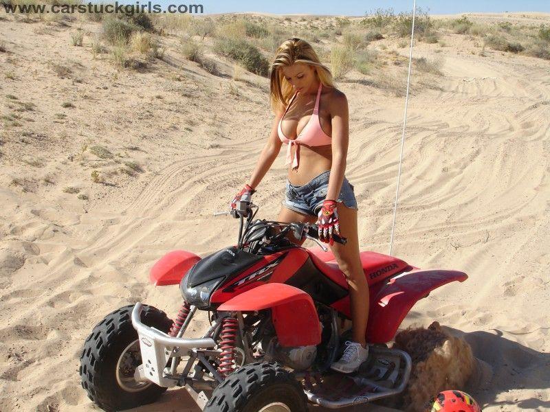 Riding atvs nakes