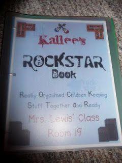 ROCKSTAR (Really Organized Children Keeping Stuff Together and Ready) Binder