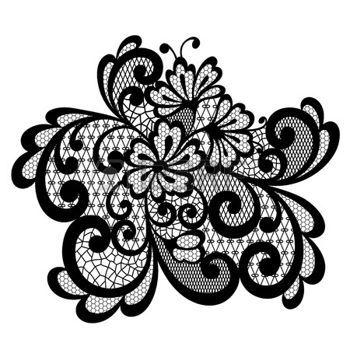 vector ornement ornement de dentelle noire photo tatoo pinterest noir photo lacets. Black Bedroom Furniture Sets. Home Design Ideas