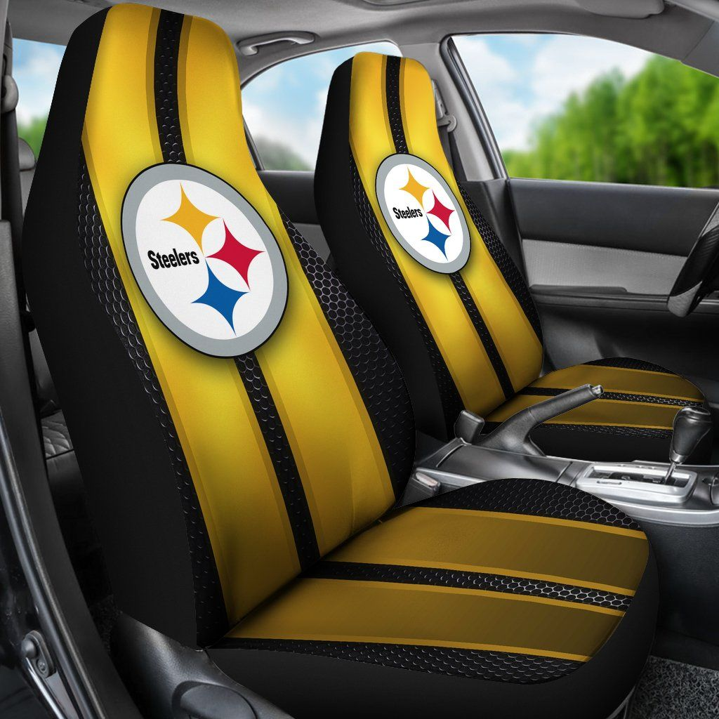 Incredible Line Pattern Pittsburgh Steelers Logo Car Seat