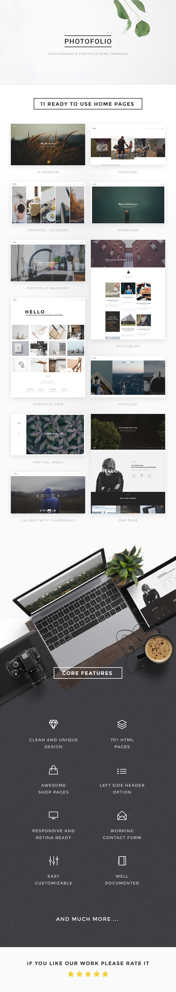 Photofolio photography portfolio html template photography photofolio by nunforest httpsthemeforestitemphotofolio photography ppt templatehtml toneelgroepblik Images