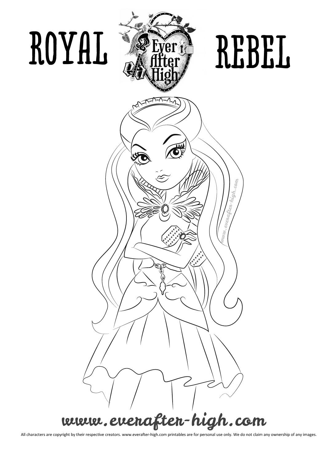 Pin By Adele Grosz On Ever After High Ever After High Coloring Pages Raven Queen