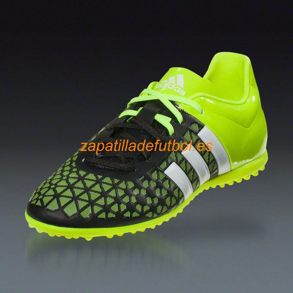 8a8c48088a4 Tacos de futbol Sala Adidas Ace 15.3 TF Junior Negro Blanco Amarillo Solar