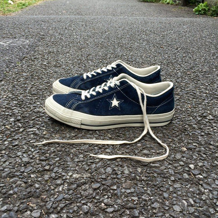 059979e83965  00s CONVERSE ONESTAR SUEDE NAVY BUDHARAJUKU FASHION 70 sを忠実に再現した MADE in  JAPAN サイズは9ハーフ ネイビースエード by ishimeeen. Find this Pin and ...