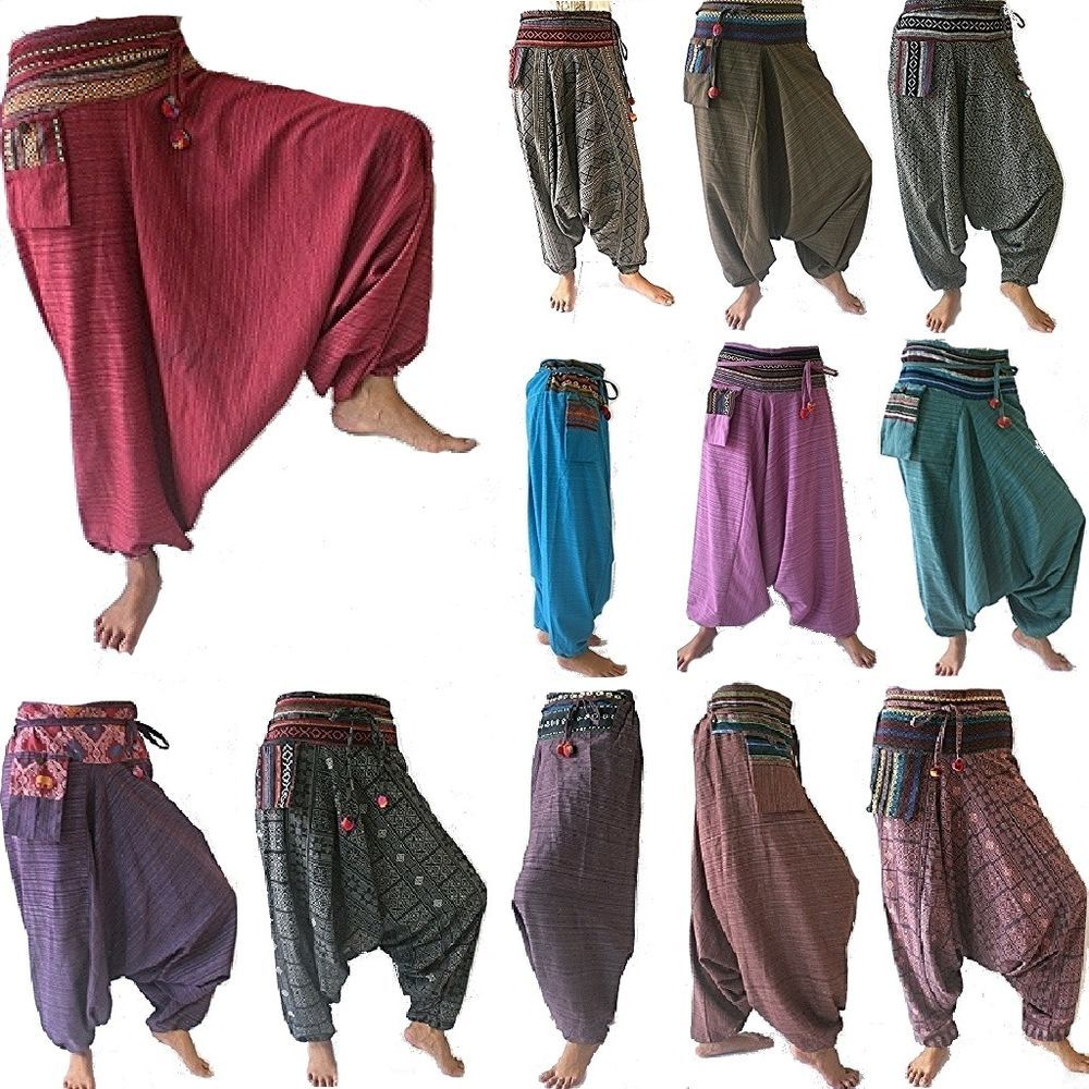 online shop new release exclusive range Gypsy Hippie Aladdin Hmong Baggy Genie Harem Pants Men Women ...