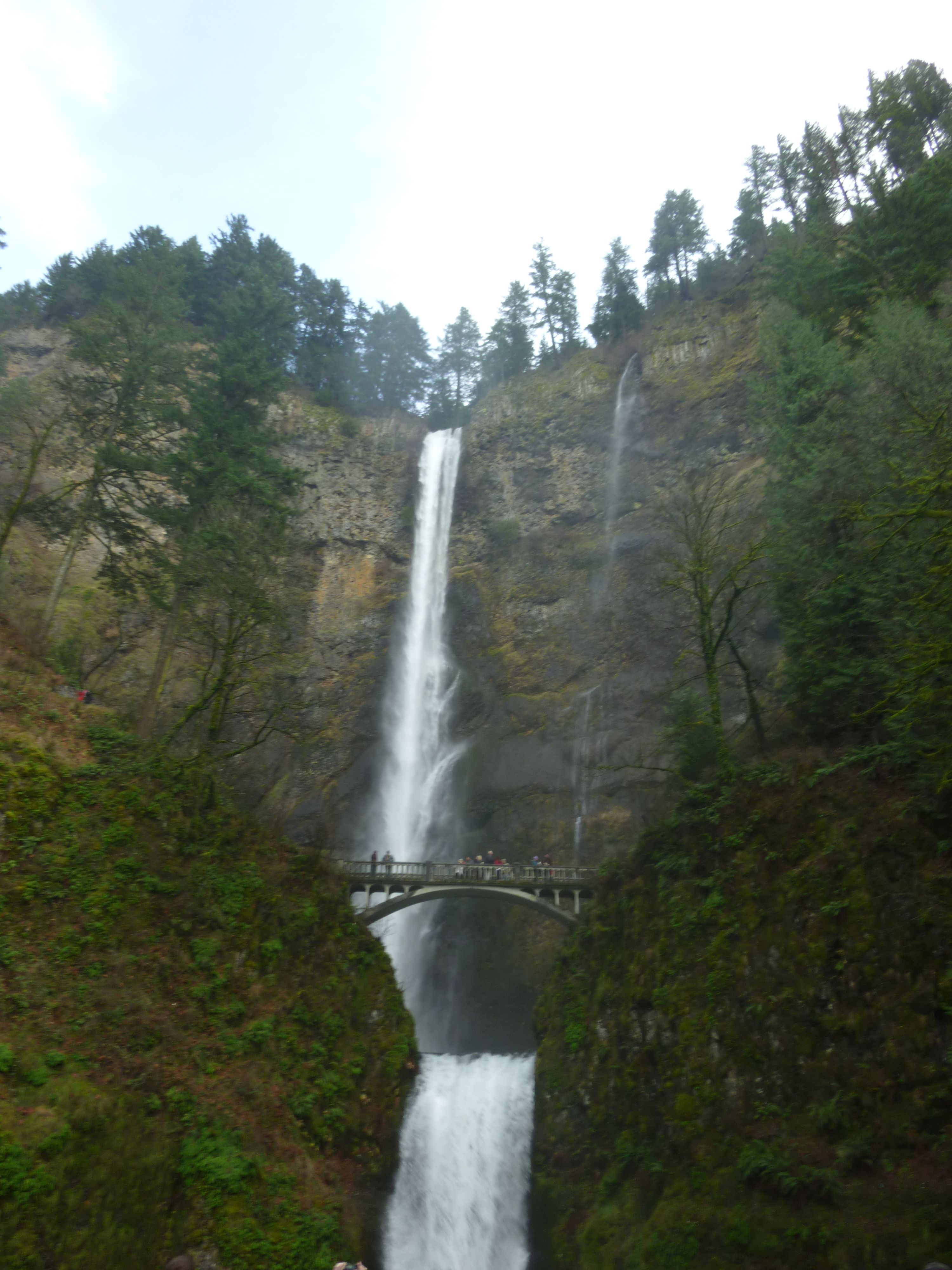 Been there, done that, check!  Multnomah Falls on the Columbia river gorge in Oregon