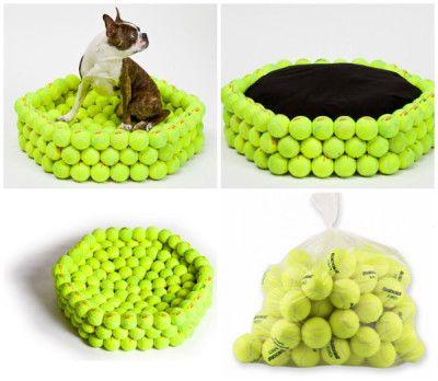 Cama de pelotas de tennis